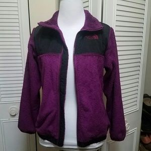 M Purple Fuzzy Northface